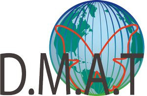 Logo D.M.A.T. - Disastermanagement, disaster advice and -training globe