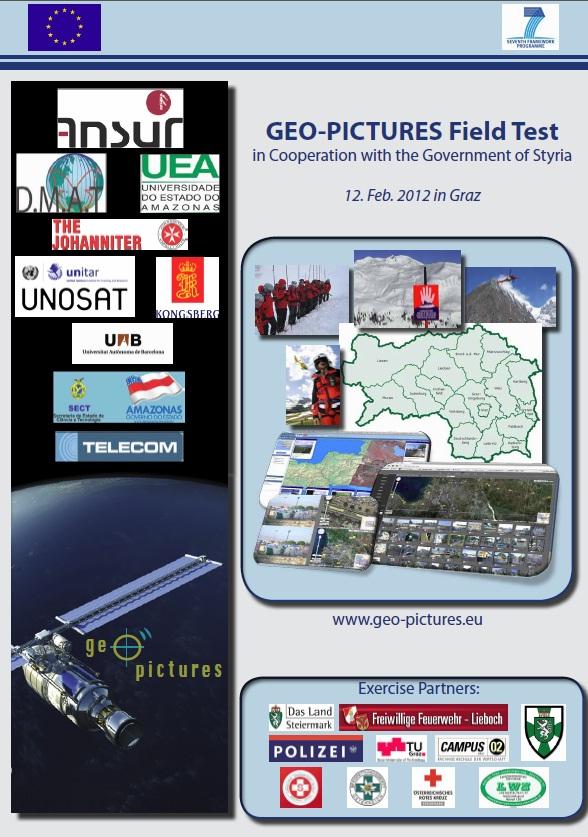 Einladung zum Abschlusstest Projekt GEO-PICTURES, in der Steiermark/Österreich.