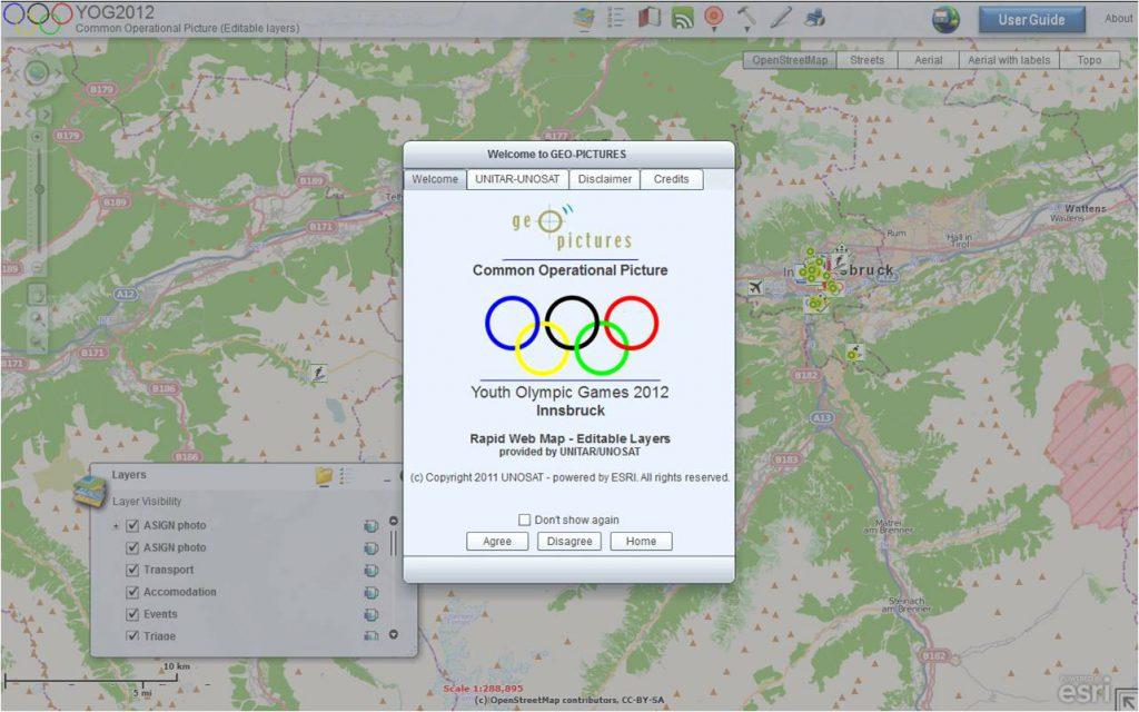 Testaufnahme von GEO-PICUTRES bei der Jugenolympiade in Innsbruck 2012