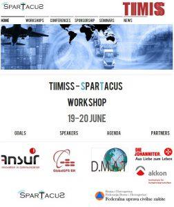 Aussendung zum Workshop mit Vorstellung der in SPARTACUS entwickelten Technologien.