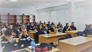 Bild aus dem Lehrsaal während eines Trainings für Hilfseinsätze